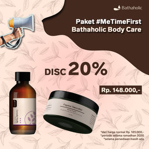 Paket MeTimefirst Bathaholic Body Care (Shower Gel + Body Cream)