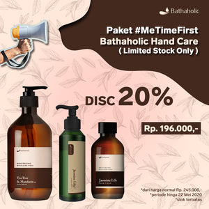 Paket MeTimeFirst Bathaholic Hand Care (Limited Stock Only Hand Wash, Hand Gel, Hand Cream)