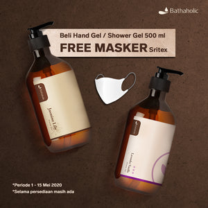 PROMO! Beli SHOWER GEL / HAND GEL 500ml GRATIS MASKER