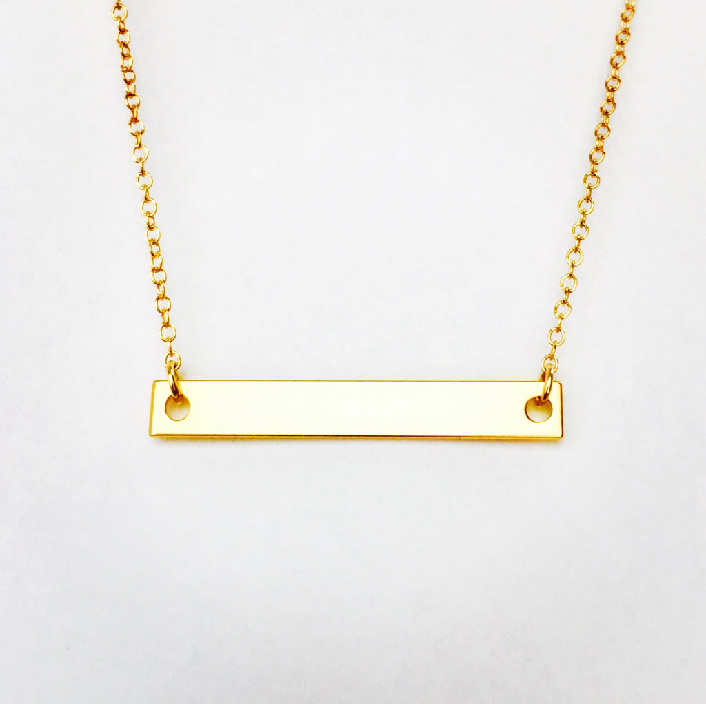 Gold Bar Necklace - 18k Gold Necklace