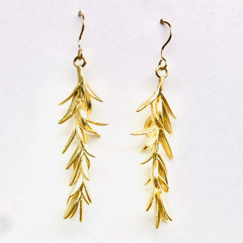 Evergreen Earrings - 18k Gold Earrings