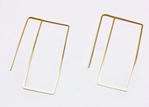 Berlin Rectangle Earrings - 18k Gold Earrings