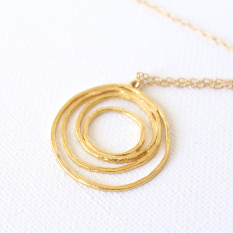 Sunrise Necklace - 18k Gold Pendant Charm Necklace