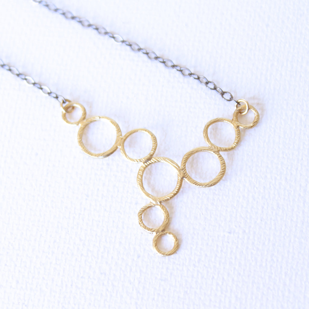 Droplet Necklace - 18k Gold Pendant Charm Necklace