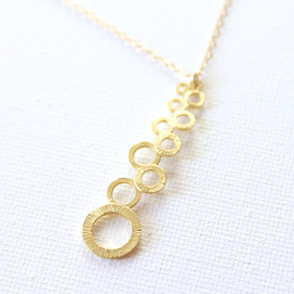 Bubble Bar Necklace - 18k Gold Pendant Charm Necklace