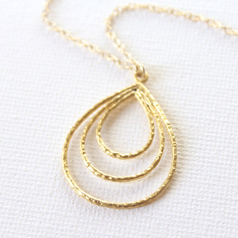 Teardrop Necklace 1.0 - 18k Gold Pendant Charm Necklace