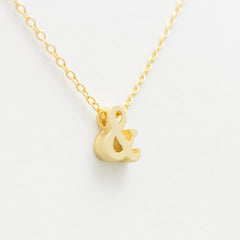 3D Punctuation Necklace - 18k Gold Hashtag, Ampersand, At Sign Charm Necklace