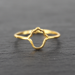 Hamsa Ring - 24k Gold Dipped Hand of Fatima