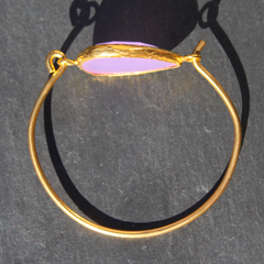 Old San Juan Bracelet - 24k Gold Dipped Purple Chalcedony Cuff