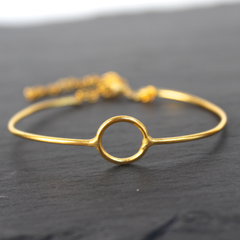 Infinity Bracelet - 24k Gold Dipped Cuff