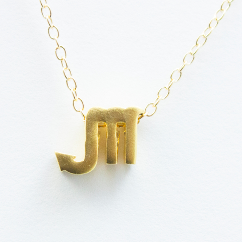 3D  Zodiac Sign Scorpio Necklace - 24k Gold Horoscope Charm Necklace