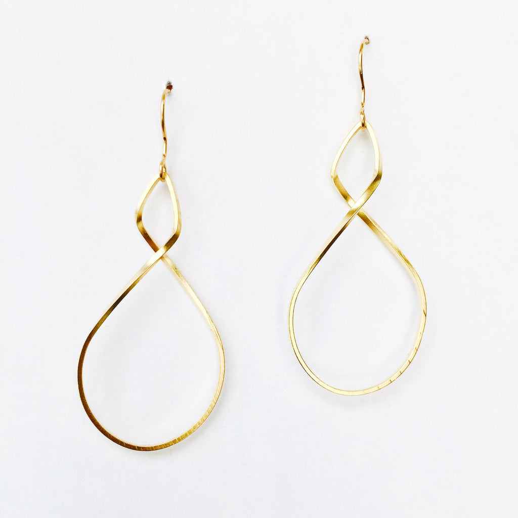 Infinity Earrings - 18k Gold Earrings