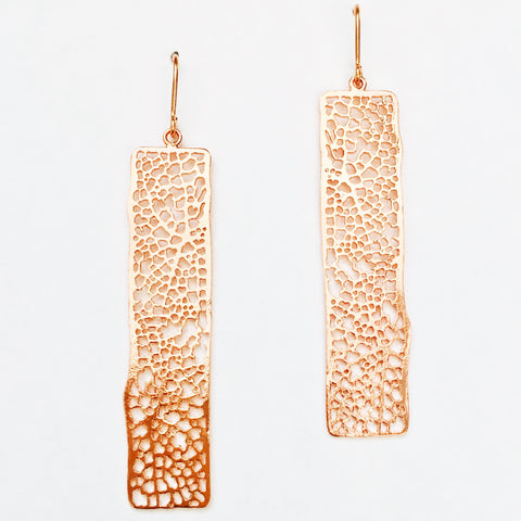 Autumn Rectangle Earrings - 18k Gold Earrings