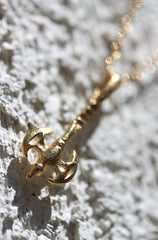 She-Ra Necklace - 18k Gold Medieval Axe Charm Necklace