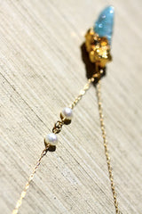 Mykonos Necklace - 24k Gold Dipped Spirit Quartz Necklace