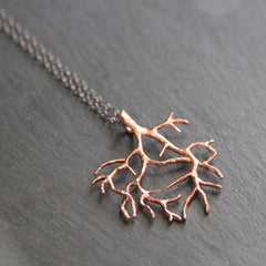 The Tree of Life Necklace - 18k Gold Tree Pendant Charm Necklace