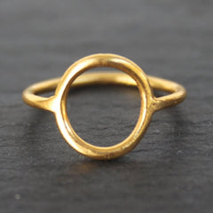Infinity Ring - 24k Gold Dipped Ring