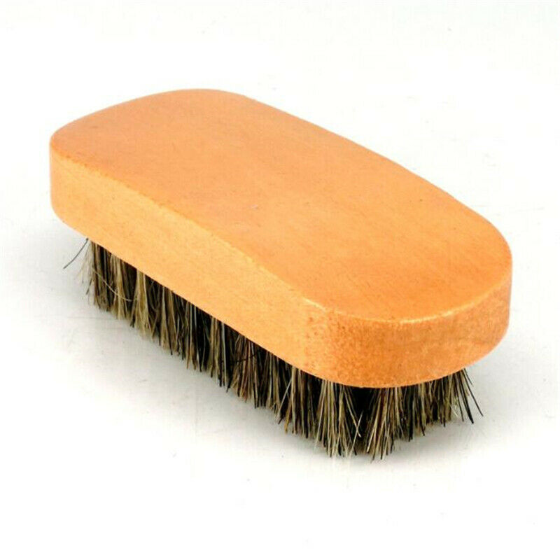 Care Cleaning Horsehair Shoe Brushes Shine Bristles Leather Suede Boot Brush R