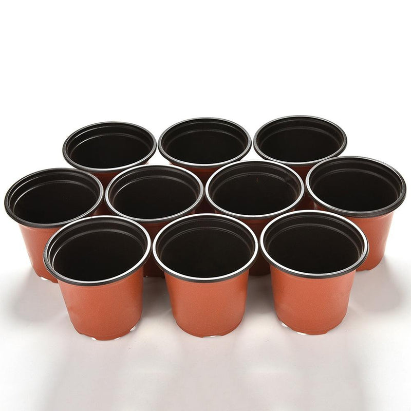 KMERLIFE 3.5'' Garden Plastic Plants Nursery Pot / Seed Starting Pots Flower Plant Container 5/10 Pcs
