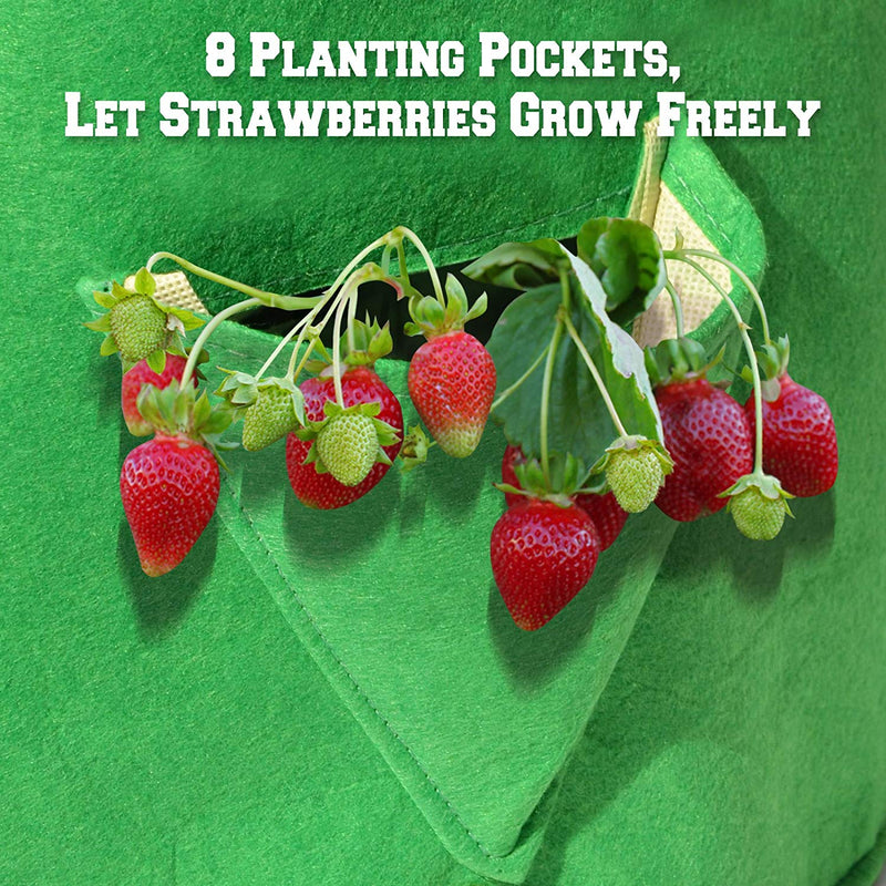 8 planting p[ockets for vegetables grow bag kmerlife
