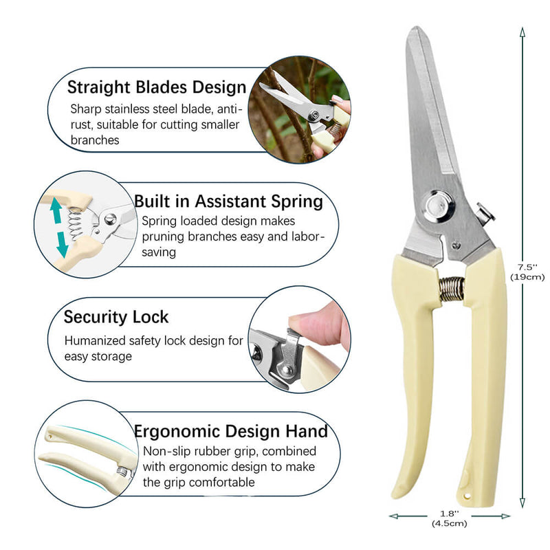 size and features of kmerlife straight scissors