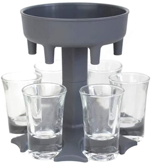 Party 6 Shot Liquid Dispenser Holder Cocktail Dispenser Carrier Perfect for Holiday Parties Drinking