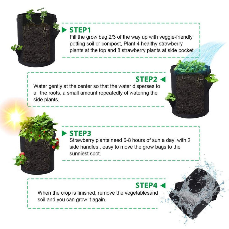 instruction for using kmerlife grow bags