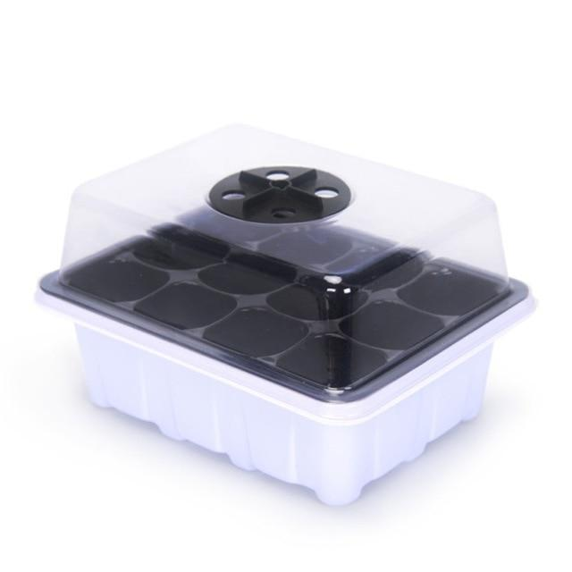 KMERLIFE 6/12 Cells Seedling Starter Germination Tray with Lid (Humidity Adjustable Dome) for Seed Breeding