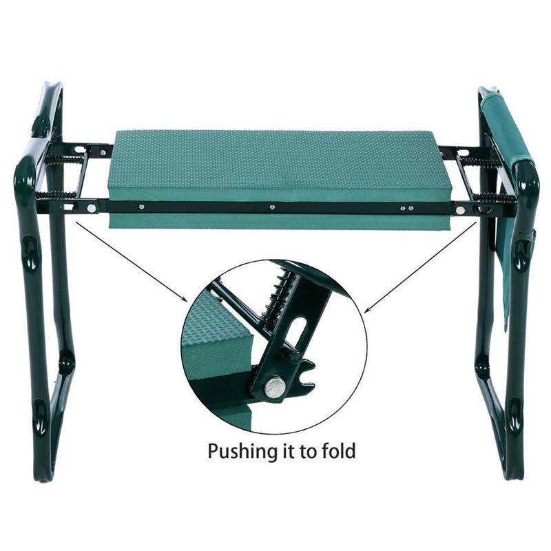 kmerlife folding garden kneeler and seat