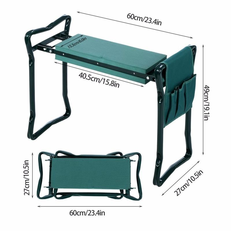 kmerlife folding garden seat with handles