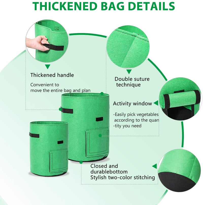 kmerlife non woven cloth pot grow bags