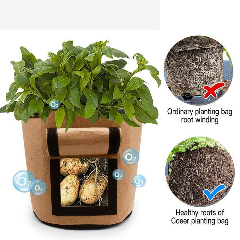 kmerlife potato brown grow bags