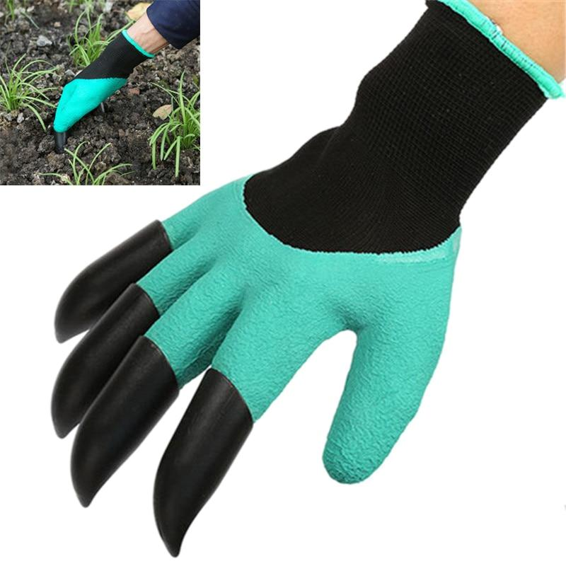 the rubber garden gloves with claw