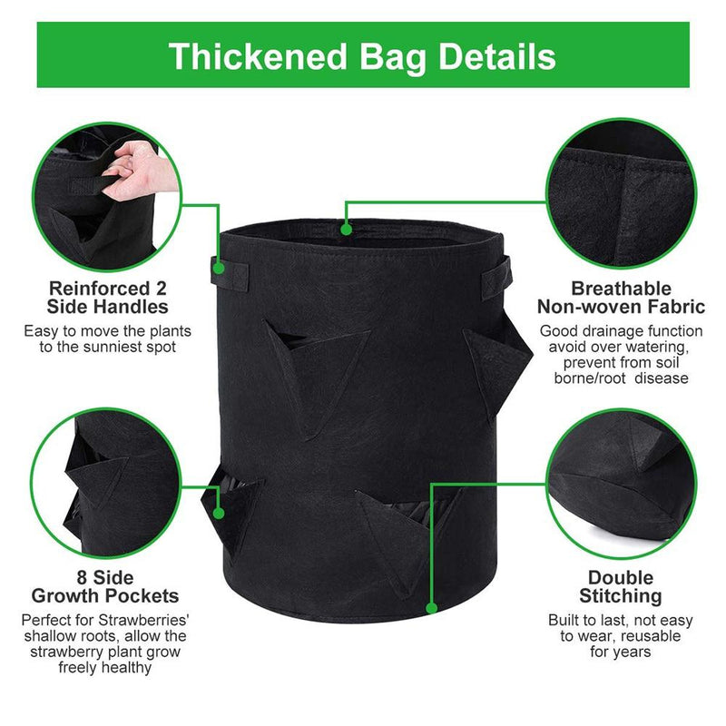 thickeded bags details for kmerlife grow bags