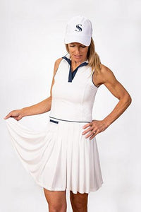 Natalie Sleeveless Golf Dress - White