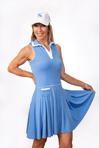 Natalie Sleeveless Golf Dress - Periwinkle