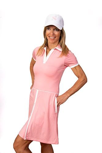 Sheila Short Sleeve Golf Dress - Pink