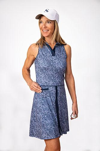 Nancy Sleeveless Golf Dress - Paisley