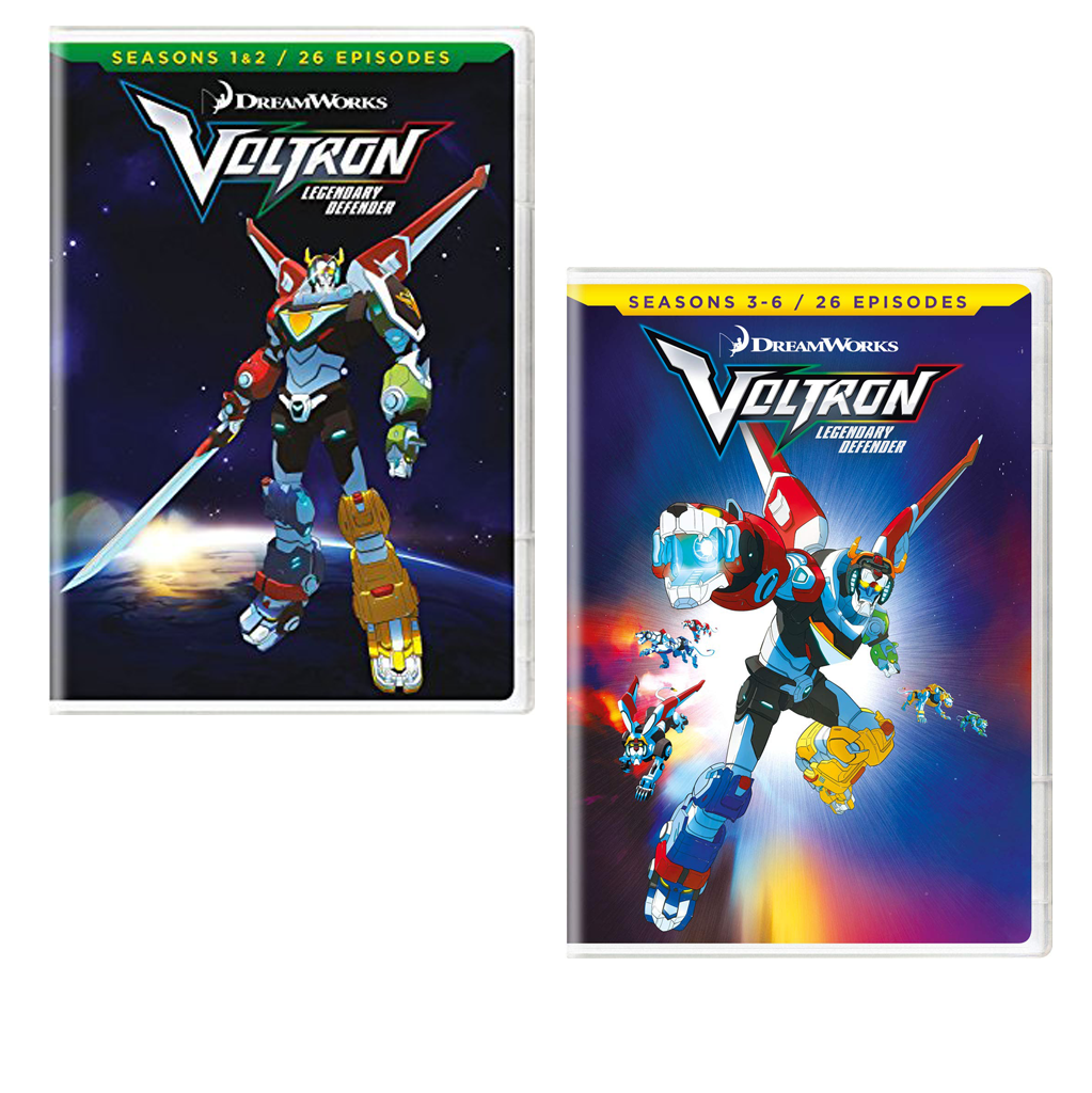 Voltron Legendary Defender DVD Seasons 1-6 now shipping