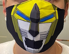 Voltron Yellow Lion Face Mask BRAND NEW