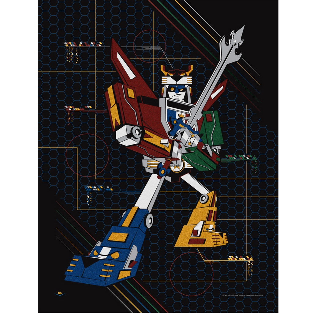 Acme Archives Voltron Defender Print NEW