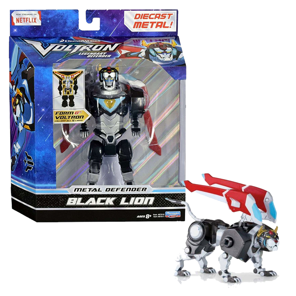 Voltron The Legendary Defender BLACK Lion Die-Cast Figure
