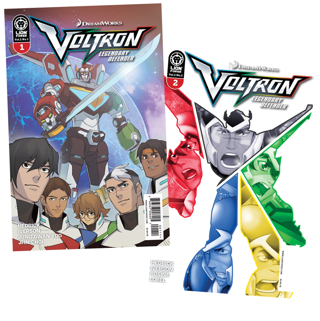 Voltron Legendary Defender Volume 2 Issue #1 AND #2