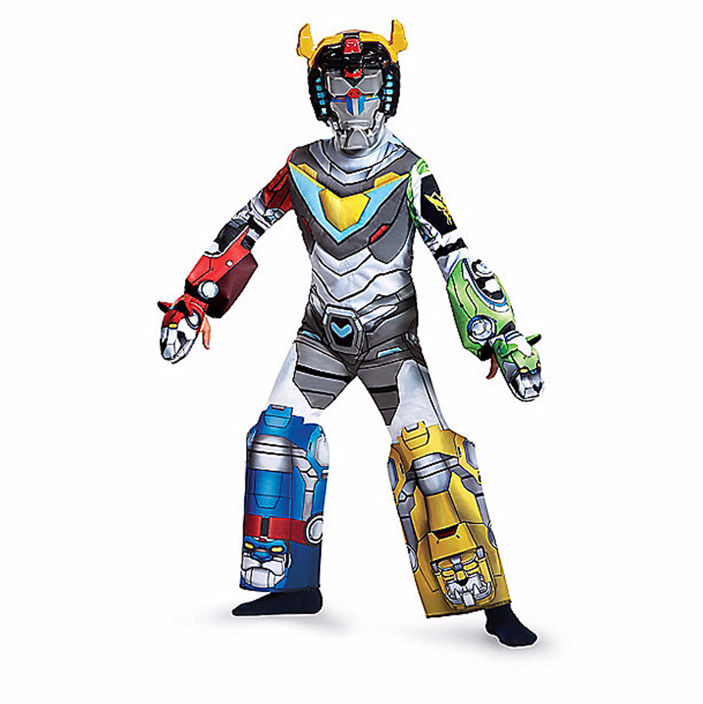 Voltron Legendary Defender Deluxe Kids Costume FREE PALADIN HANDBOOK with purchase