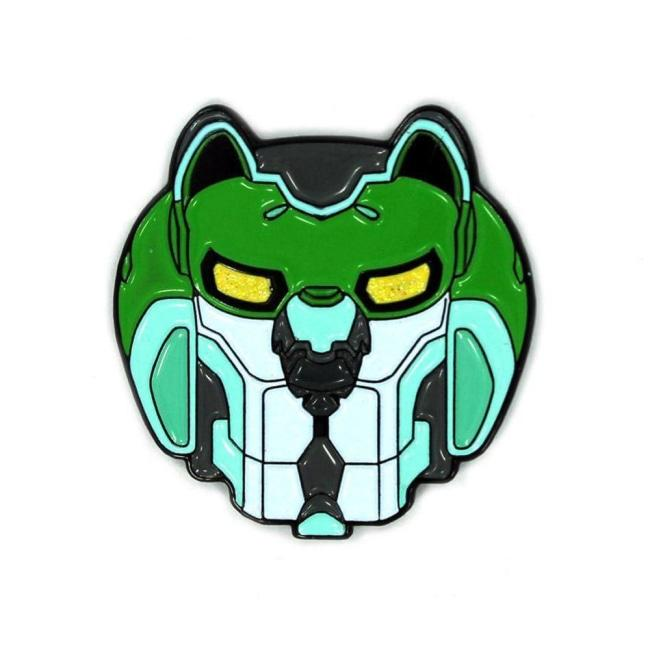 Green Lion Enamel Pin New!