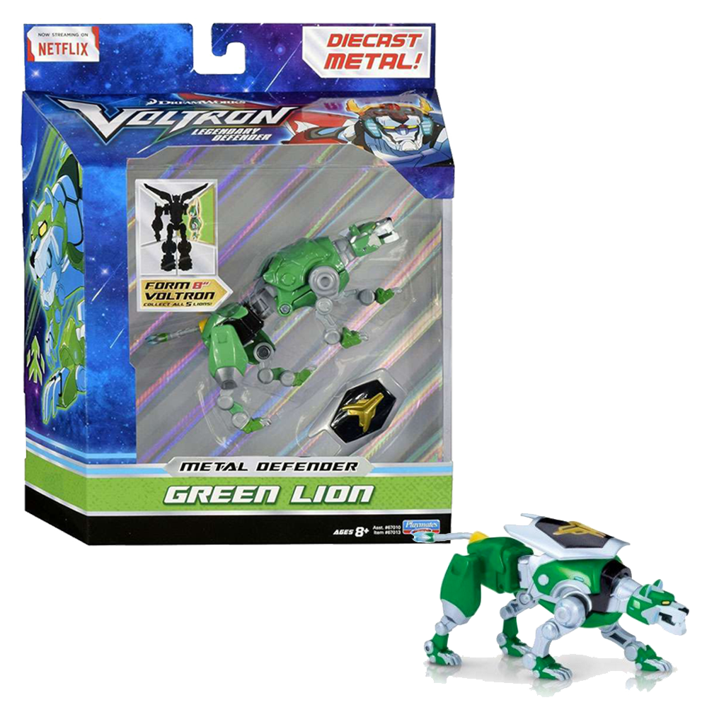 Voltron The Legendary Defender GREEN Lion Die-Cast Figure