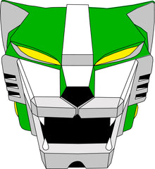 Voltron Green Lion Face Mask BRAND NEW