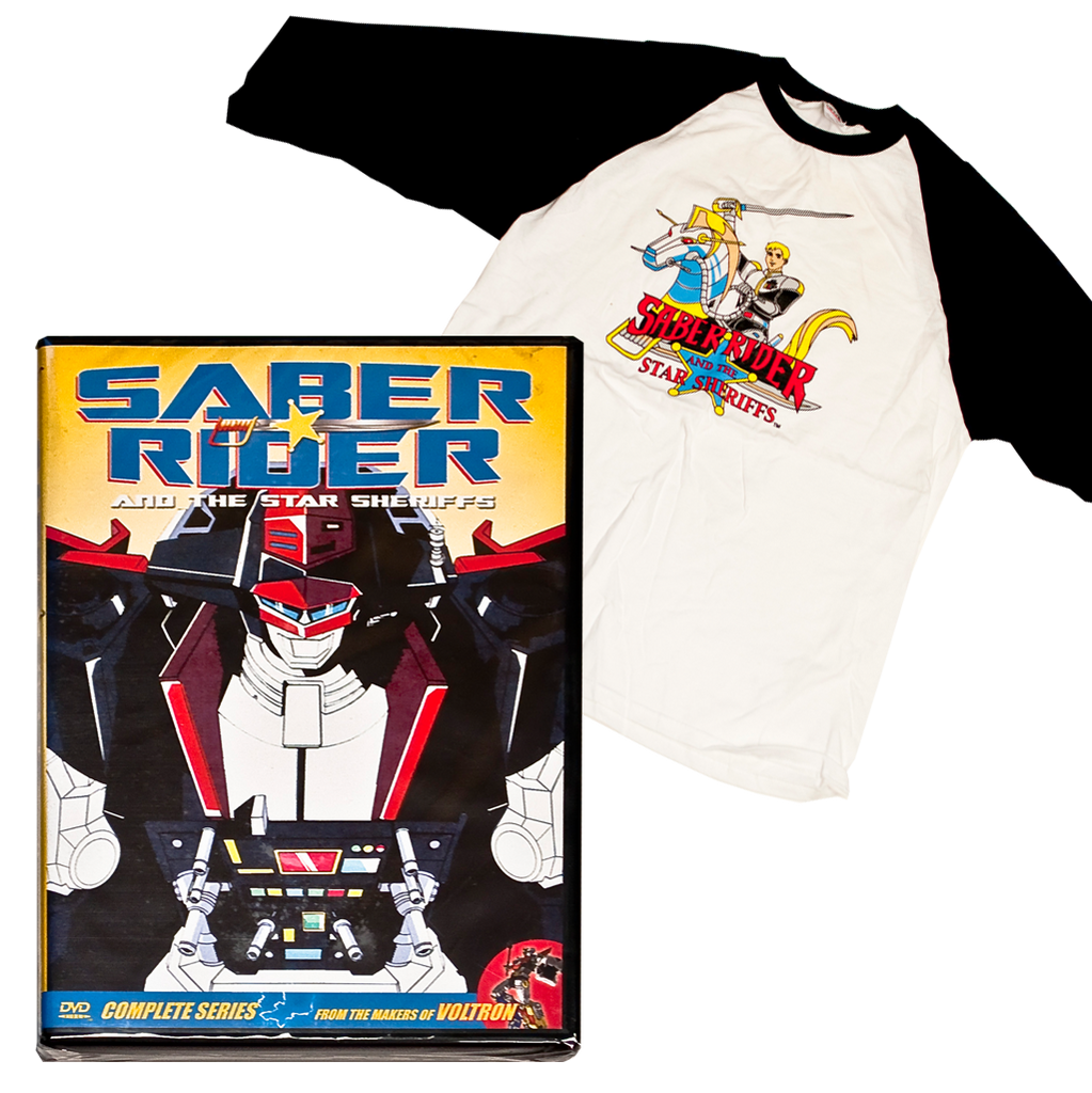 Saber Rider DVD set & Shirt
