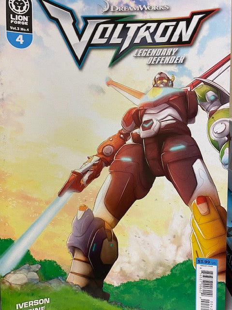 Voltron Legendary Defender Volume 3 Issue #4 Variant Cover Now Shipping