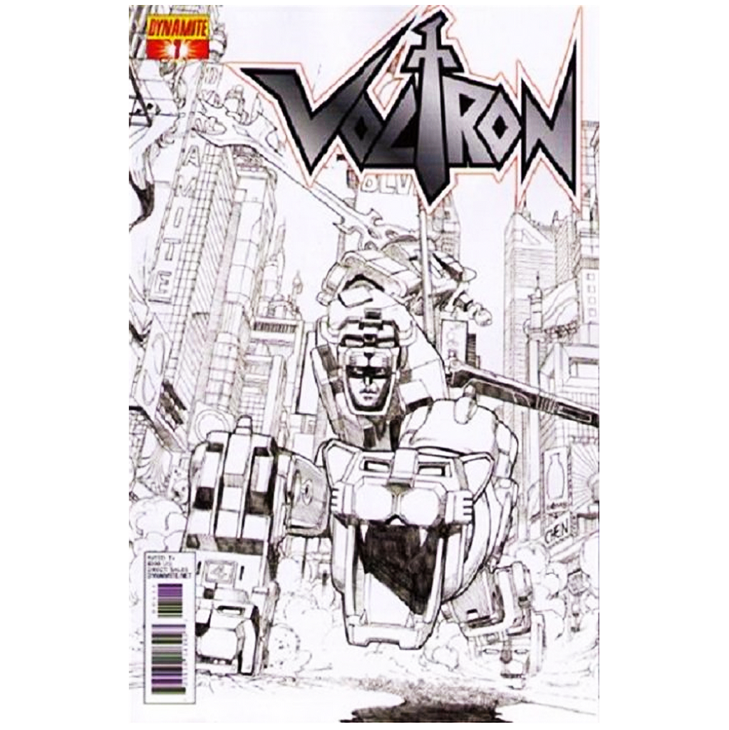 "Voltron #01 ""Black and White"" Comic"